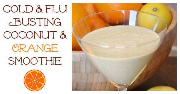 Cold & Flu Busting Coconut & Orange Smoothie