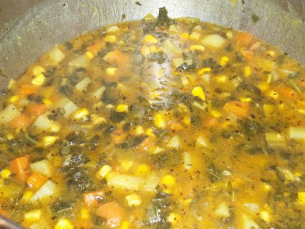 Corn and Kale Chowder