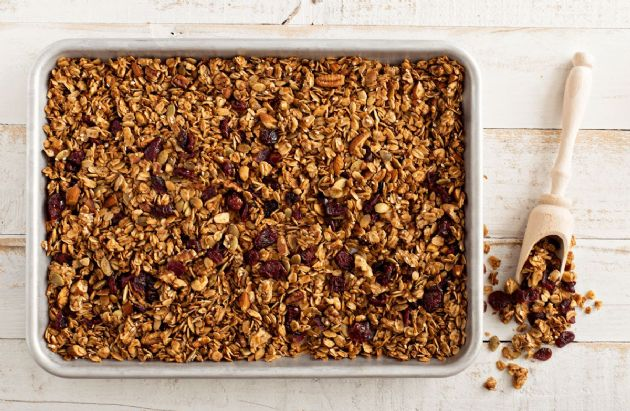Cranberry-Maple-Pecan Granola