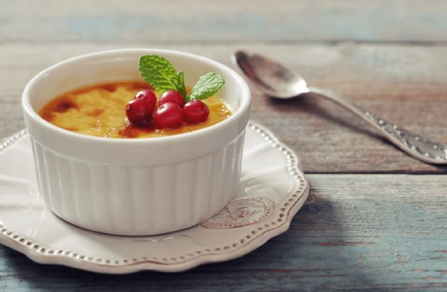 Cranberry-Orange Creme Brulee