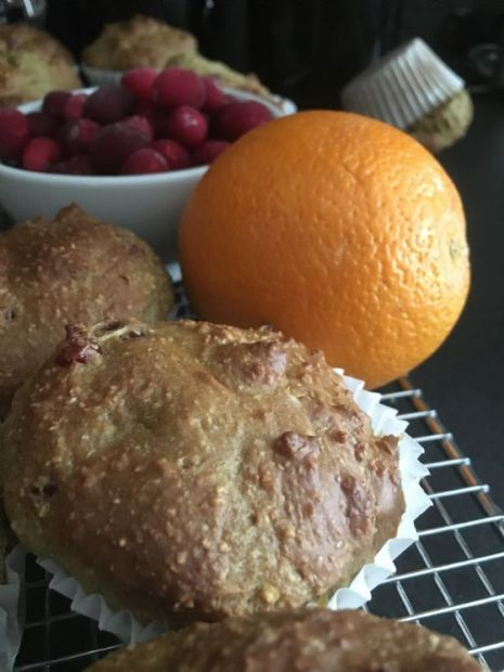 Cranberry Orange Oat bran Muffins