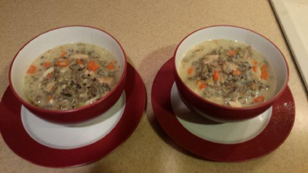Creamy Chicken & Wild Rice Soup (1.5 c= serving)