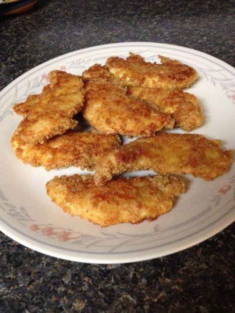 Crispy Baked Chicken with pork rind crust