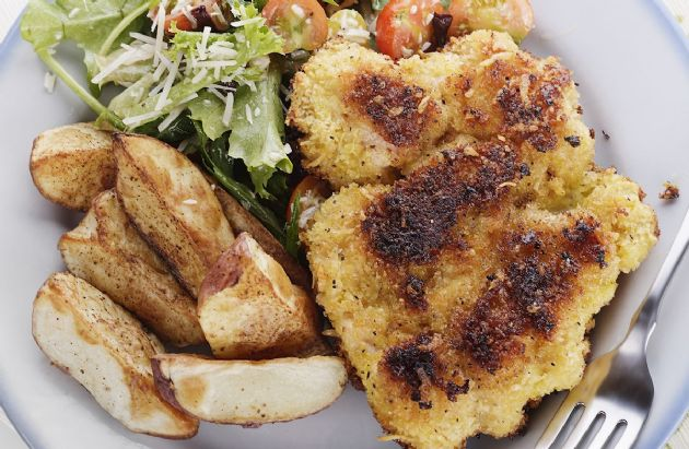 Crispy Crusted Baked Chicken Breasts
