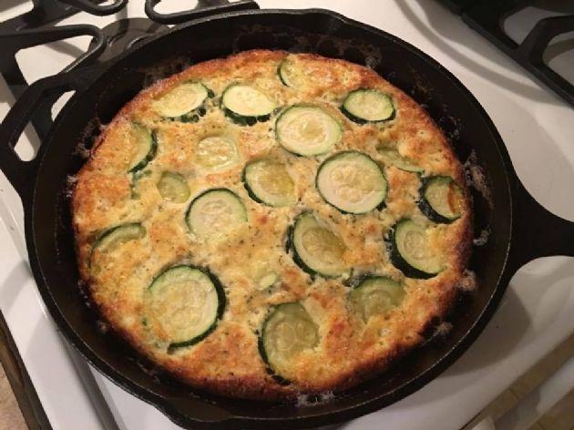 Crustless Zucchini Cheese Pie
