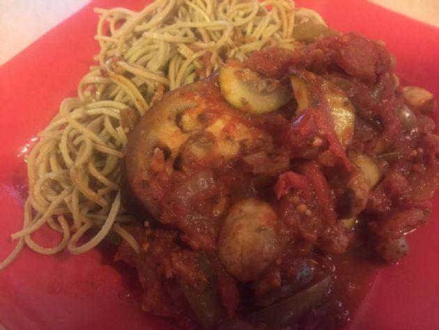 Beth's Eggplant Vegetable Spaghetti Sauce