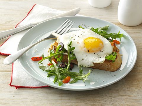 Eggs on Grilled Bread