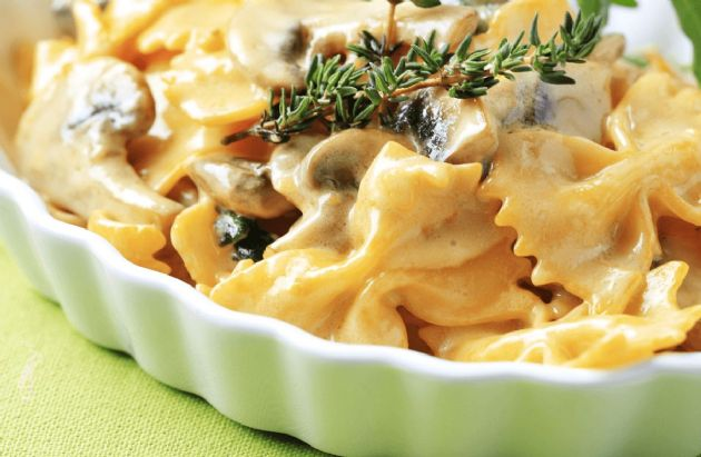 Farfalle with Mushrooms & Spinach