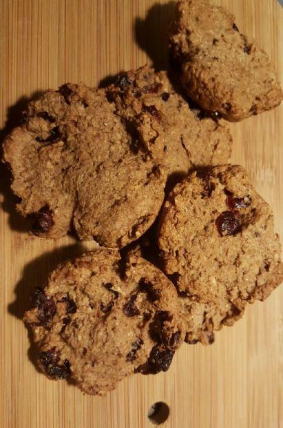 Flax Cranberry Nut Cookies (gluten free)