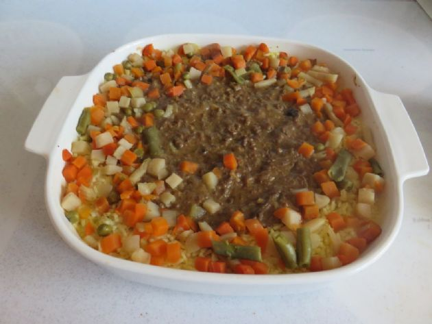 Flossie's Rice & Hamburger Meat Dish (1/2 cup serving)