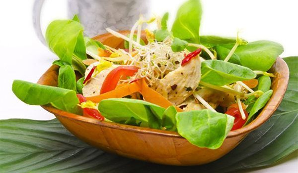 Garden Salad with Lemon and Oil Dressing Recipe | SparkRecipes