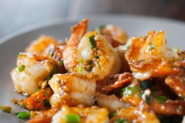 Garlic Ginger Shrimp Stir Fry