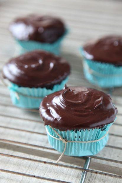 Gluten Free Devil's Food Cupcakes
