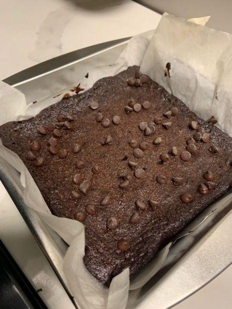Good Dees Low Carb Chocolate Brownie full fudge like mix minus 2Tbsp