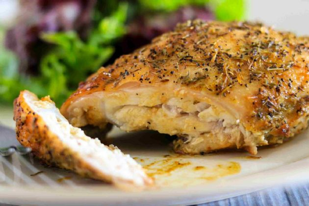 Grilled (or Oven Baked) Rosemary Chicken Breasts