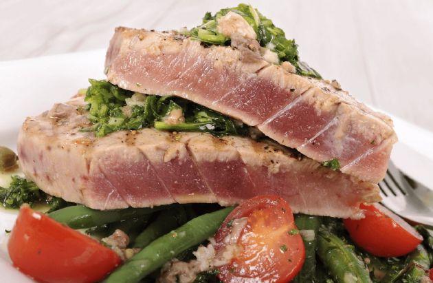 Grilled Mediterranean Ahi Tuna