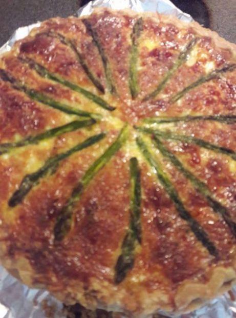 Ham Asparagus Quiche