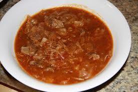 Hamburger Cabbage Soup - DELICIOUS! :)