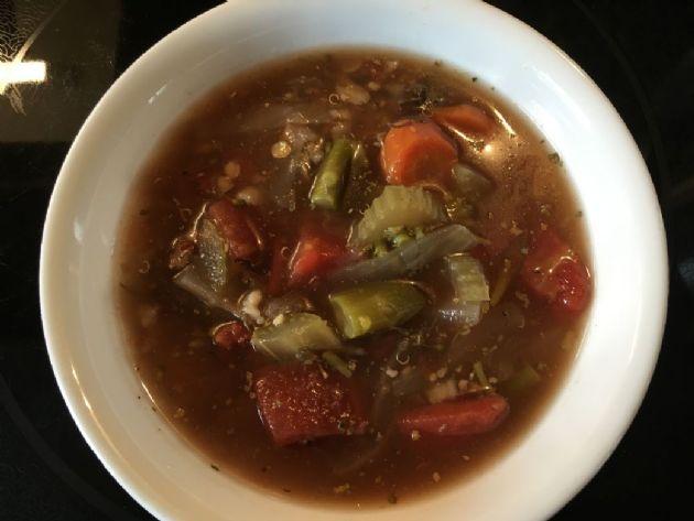 Homemade Rib Eye & Vegetables soup