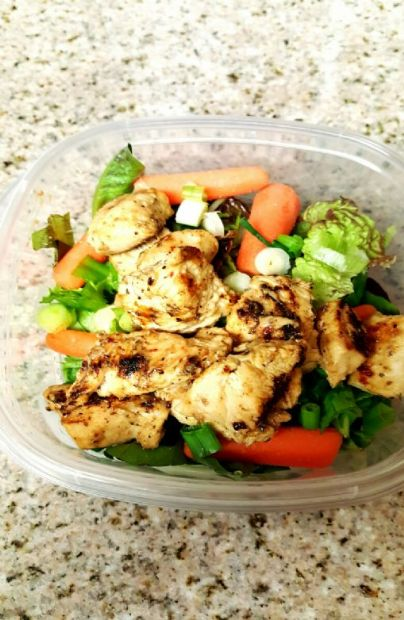 Homemade herb,garlic, and lemon chicken salad
