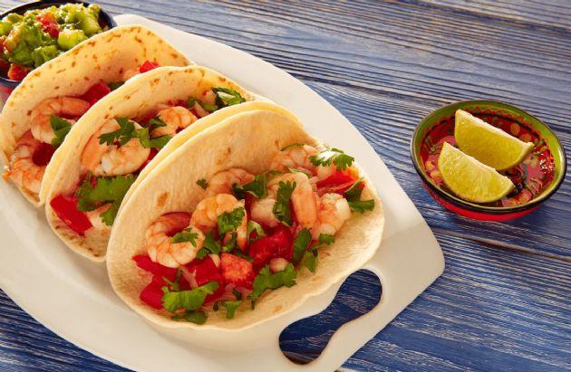 Honey-Cilantro Shrimp Soft Tacos