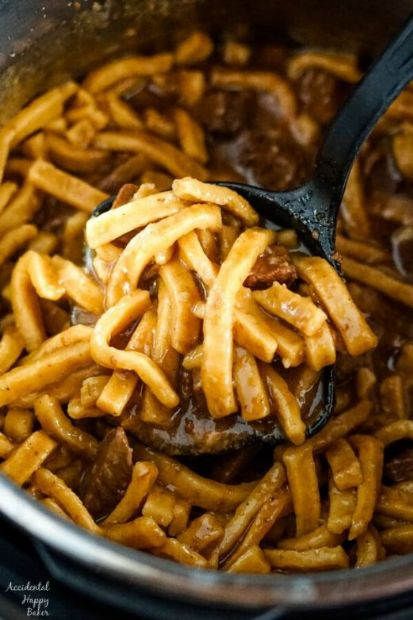 Instant Pot Beef & Noodles