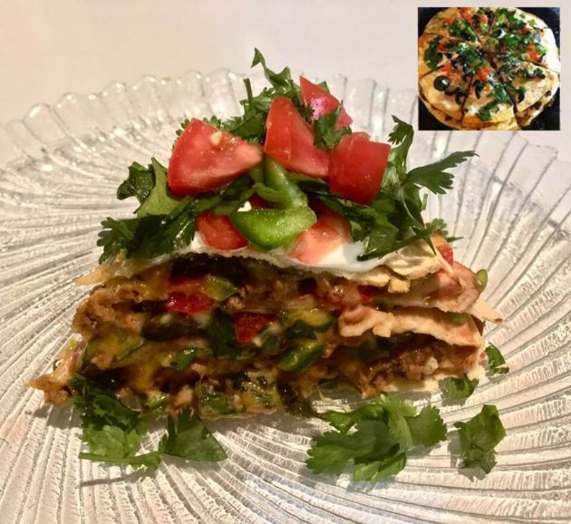 Janine's Mexican Pizza