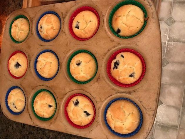 Keto Blueberry Lemon Muffins