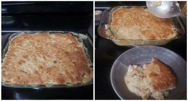 Keto Cheddar Biscuit Pot Pie