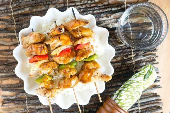 Korean BBQ Chicken Kebabs