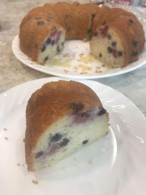 Summer Lemon Blueberry Raspberry Cake by Tamera