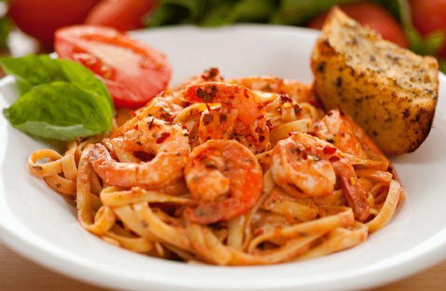 Linguine with Spicy Shrimp