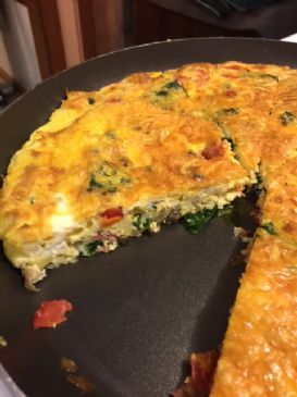 Low Carb Kale and Turkey Bacon Frittata