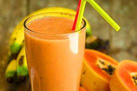Mango, Papaya & Strawberry Yogurt Smoothie