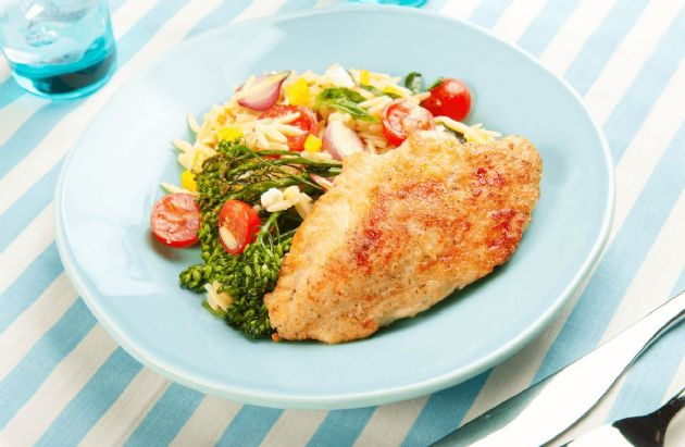 Mediterranean Chicken with Orzo