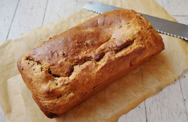 Virtually Fat-Free Delicious Banana Bread.