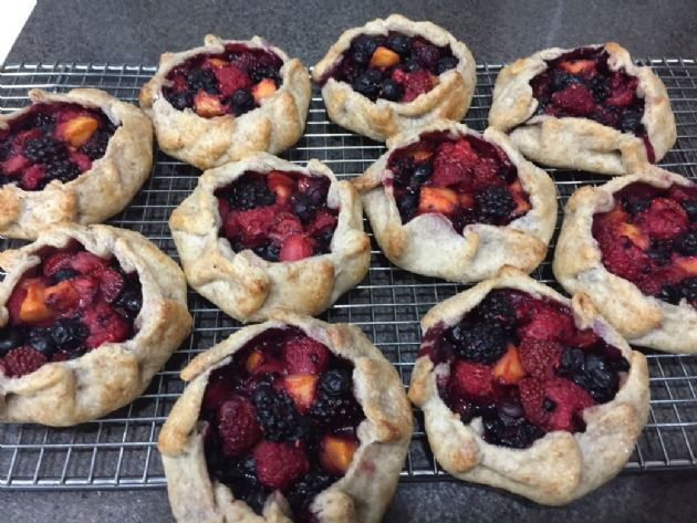 Mixed Berry and Peach Galette