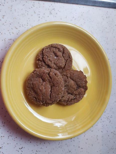 Molasses Crinkles from vintage Betty Crocker cookbook