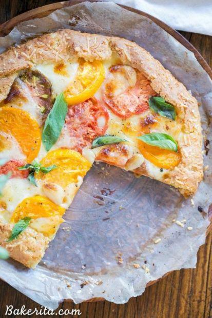 Mozzarella Heirloom Tomato Galette (paleo-gluten free)