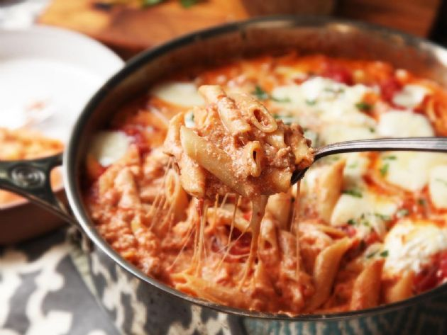 One pan Baked Pasta and turkey