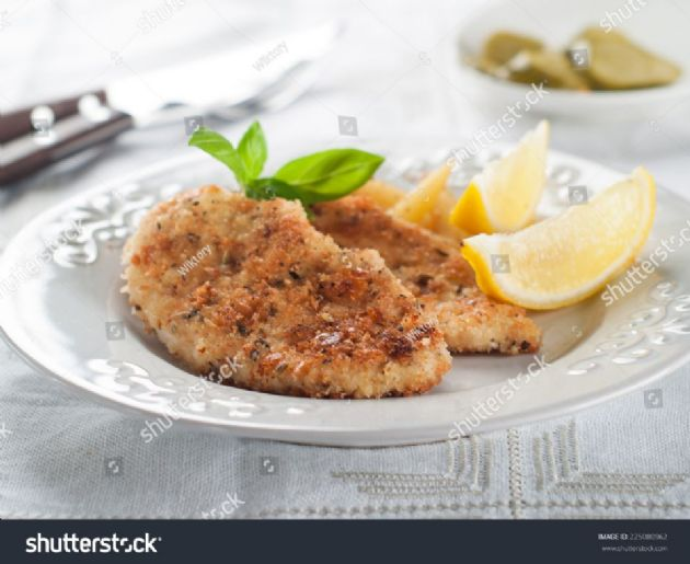 Pan Fried Pork Chops - with Corn Chex and Mustard