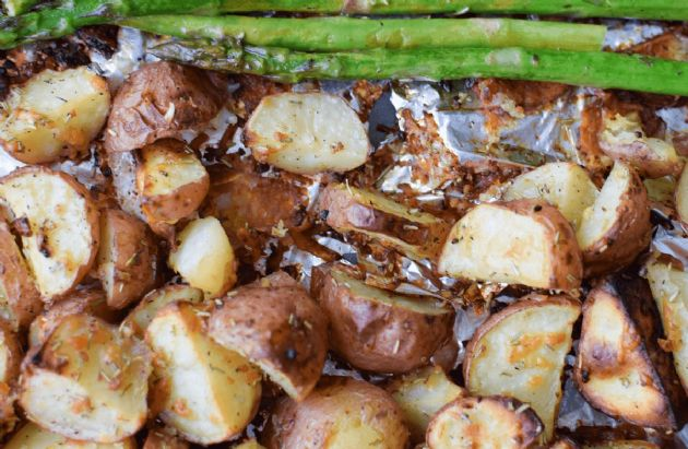 Parmesan-Roasted Baby Red Potatoes
