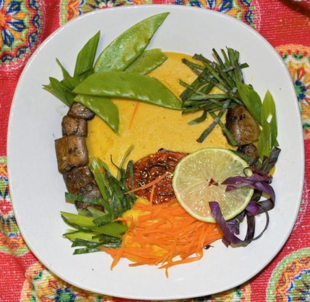 Plantain Coconut Curry Soup