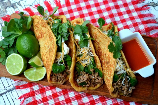 Pork rind tortillas 1 carb each recipe sparkrecipes for Pork rind fishing
