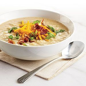 Potato & Roasted Cauliflower  Soup