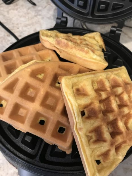 Puff Waffles for One -  High Protein by Tamera