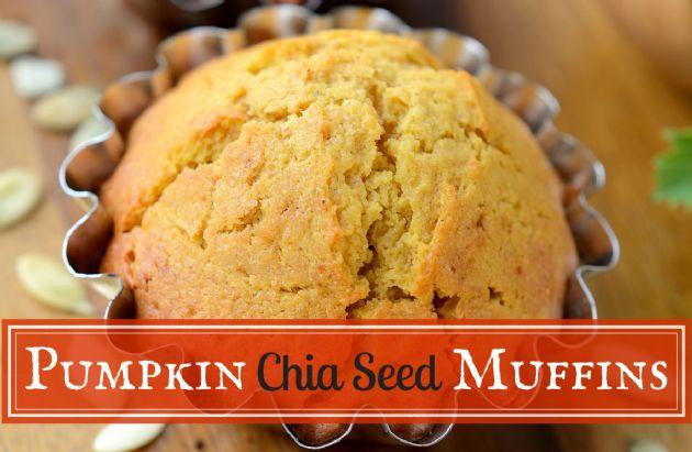 Pumpkin Chia Seed Muffins