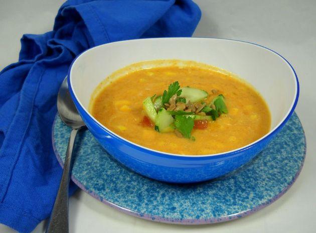 Pumpkin Corn Chia Chowder Soup