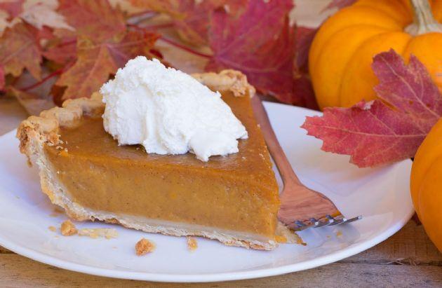 Pumpkin Pie with Crunchy Pumpkin Seed Crust