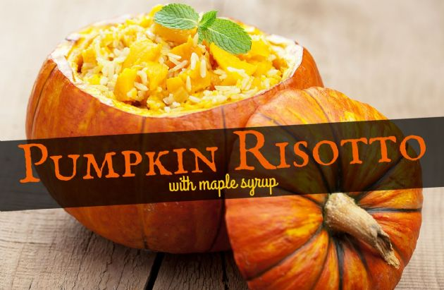 Pumpkin Risotto with Maple Syrup